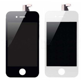 Wholesale Iphone 4s Front Replacement Lcd - Front Assemble For iphone 4 4G 4S LCD Screen With Digitizer Touch Display Replacement parts GSM version black   white color