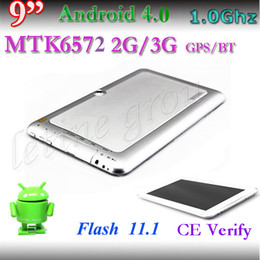 Wholesale Cheap Tablet Gsm - Cheap 9 Inch MTK6572 Dual Core Tablet PC Android 4.1 2G GSM GPS & Bluetooth 4GB Monster Phone phablet 1024*600 Dual Camera