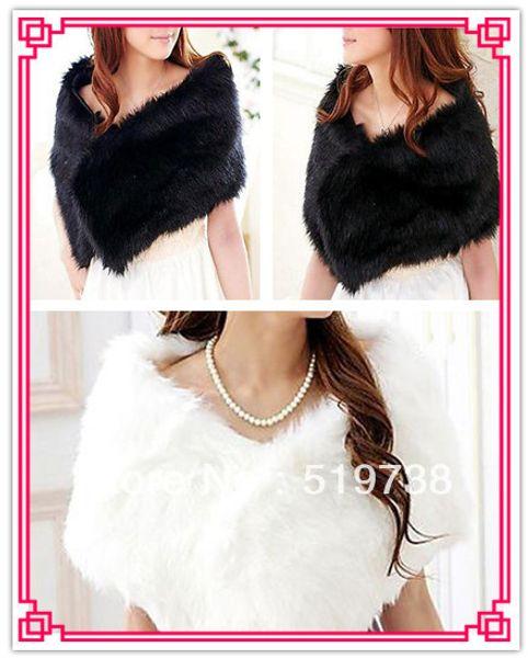 top popular Adjustable Faux Fur Evening Shawl (More Colors) 2021