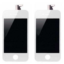 Wholesale Iphone 4s Front Assembly Display - Front Assembly LCD Display Touch Screen Digitizer Replacement Part for iphone 4 4G 4S Black White 20pcs DHL
