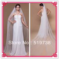 Wholesale Cathedral Tier Veils - 2014Two-tier Cathedral Wedding Veils With Cut Edge Vintage Hair Veil