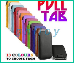 Iphone pull case online shopping - Pull Tab PU Leather Pouch Skin Case Leather case for Samsung S4 Note for iphone Cheap Price Factory