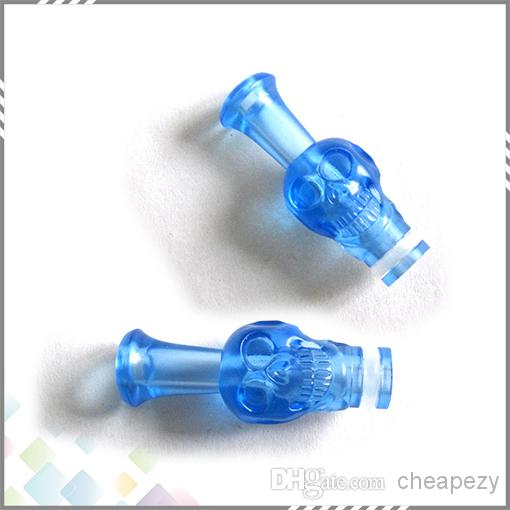 Plastic Drip Tip Skull Mouthpiece for CE4 CE5 MT3 glass atomizer Protank Electronic Cigarette ego atomizer