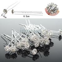 Wholesale hair pins fashion jewelry - New Fashion Hair Jewelry Crystal Spakle Wedding Bridal Accessory Crystal U Shape Hair Pin [JH03006(20)*2]