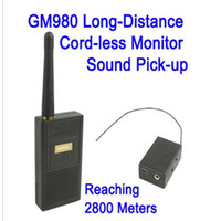 Wholesale Long Range Audio Monitor - GM980 Long-Distance Cord-less Monitor Audio Bug Spy Gadget with Ultra Range Wireless Transmission 2013 Newest