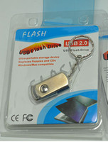 Wholesale Wholesale Key Ring Usb - 128GB 256GB USB 2.0 Metal Key Chain Ring USB Memory Stick U Disk Flash Drive