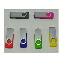 Wholesale Swivel Usb Memory Pen Drive - 128GB 256GB USB 2.0 Swivel USB Flash Drives Pen Drives Memory Stick U Disk Plastic Swivel USB Sticks