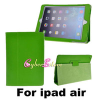 Wholesale Ipad Book Stand Case - High Quality PU Magnetic Litchi Book Leather Smart Case Cover With Stand For New ipad Air 5