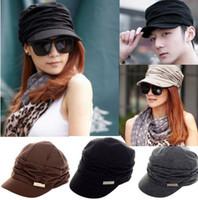 Wholesale Grey Knit Korean Style - Autumn,winter hot sale women's knitted folds caps, korean style wrinkle hat,women's fashion peaked cap[CW05012*1]