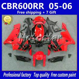 Wholesale Black M14 - High quality full fairing kit for HONDA injection molding 2005 2006 CBR600 RR F5 abs red black fairings bodywork CBR600RR 05 06 +7 Gifts M14