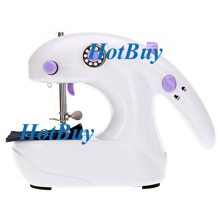 Mini Portable 2 In 1 Sewing Machine Handheld Desk Electric Battery Operated New #2488