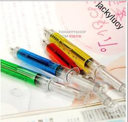 Criativo injeção seringa design caneta esferográfica caneta esferográfica para crianças presente prêmios de estudantes suprimentos Frete Grátis venda por atacado