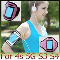 Wholesale Galaxy S3 Arm - Brand New Sport Gym Running Armband Arm Band Protector Case Cover Iphone6 Plus 5S 5C 4S Samsung Galaxy S3 S4 iPod Touch AOX-A048
