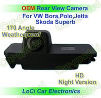 rückfahrkamera für vw großhandel-Kostenloser Versand! HD Rückansicht VW GOLF 4,5,6 / EOS / PASSAT CC Nachtsichtkamera mit Rückfahrkamera, automatische Kennzeichenbeleuchtung