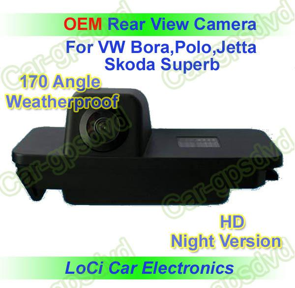 Free shipping! HD Rear View VW GOLF 4,5,6/EOS/PASSAT CC CCD night vision car reverse camera auto license plate light camera