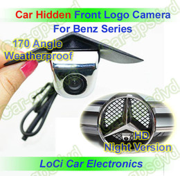Wholesale Ccd Front View Car Camera - Car Front View Logo Embeded Camera For Mercedes-Benz With Waterproof IP67 +170 Wide Degree + HD CCD night vision + Free Shipping