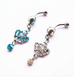 Wholesale Playboy Jewelry - Belly Button Navel Body Piercing Jewelry Dangle Accessories Fashion Charm Playboy 30PCS