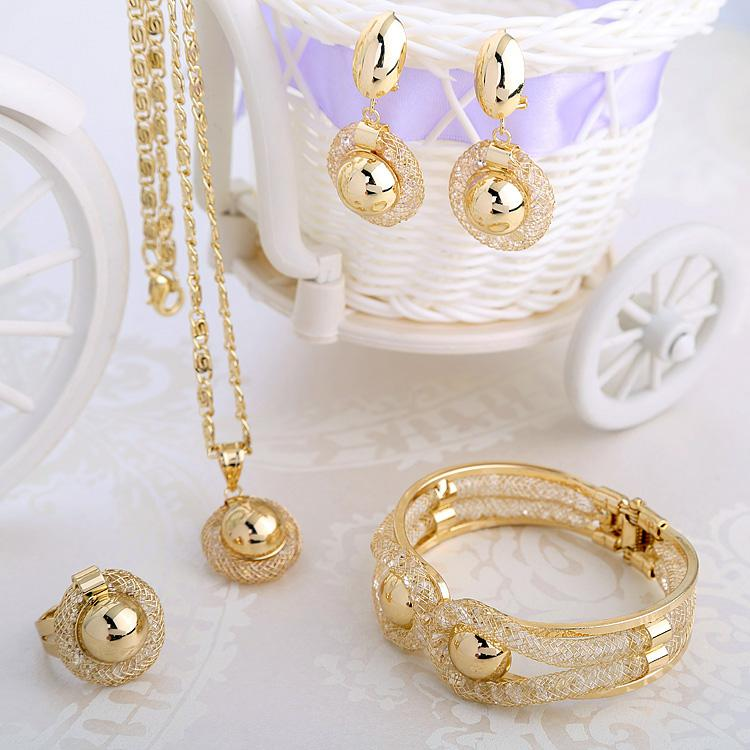 WesternRain Charming Lady Gold Plated Jewelry Elegant Fashion ...