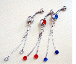 Wholesale Body Piercing Accessories - Belly Button Navel Rings Body Piercing Jewelry Dangle Accessories Fashion Charm Butterfly 30Pcs Lot