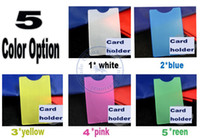Wholesale Hard Plastic Business Cards - mulit color option card Holders sleeve bag hard vertical PVC name credit card case certificate plastic wholesale