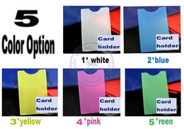 Wholesale Hard Plastic Credit Card Case - mulit color option card Holders sleeve bag hard vertical PVC name credit card case certificate plastic wholesale