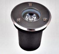 Wholesale Underground Garden Light Dhl Free - DHL FEDEX  free shipping,12pcs lot,3w ww cw led underground light Buried lamp, Garden IP68 light outdoor lamp inground LED lamp
