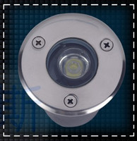 Wholesale Ip68 1w - Free shipping 1W LED underground lamps Buried lighting 12V OR AC85-265V IP68 LED Garden lights