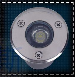 Wholesale Ip68 1w - Free shipping 1W LED underground lamps Buried lighting 12V OR AC85-265V IP68 LED Garden lights
