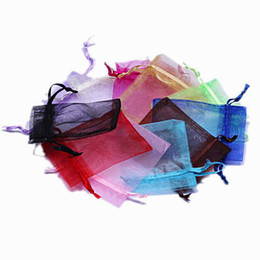 Organza vOile gift packaging bags online shopping - 500pcs Mixed Luxury Organza Jewelry Bags Christmas Wedding Voile Gift Bag ewelry Packaging Gift Pouch cm