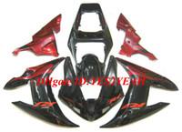 carrinhos de corpo de motocicleta yamaha venda por atacado-Kit de corpo de carenagem para YAMAHA YZFR1 YZF R1 2002 2003 YZF-R1 YZF1000 R1 02 03 vermelho preto Motocicleta Carenagem carroçaria + presentes YA23