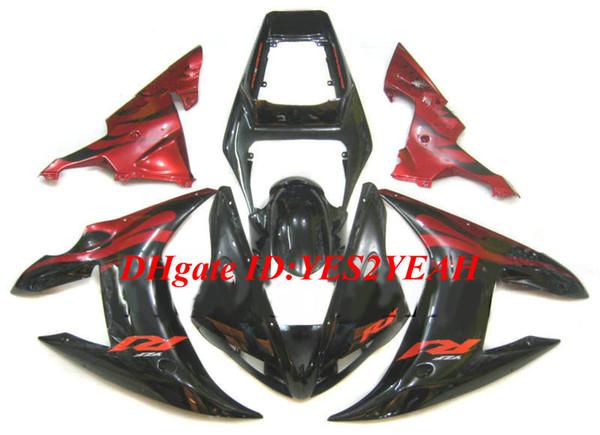 Fairing Body kit for YAMAHA YZFR1 YZF R1 2002 2003 YZF-R1 YZF1000 R1 02 03 red black Motorcycle Fairings bodywork+gifts YA23