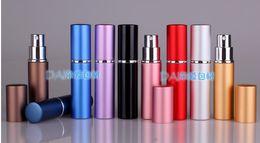 Wholesale Spray Fill - 6ML Parfum Empty Bottle Easy Fill Travel Perfume Atomizer Refillable Pump Spray portable Bottle Fragrance & Deodorant cosmetics vessel