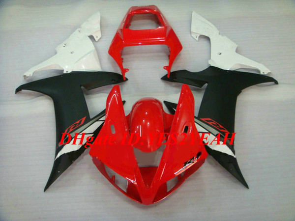Juego de carenado de motocicleta de alta calidad para YAMAHA YZFR1 02 03 YZF R1 2002 2003 YZF1000 ABS Rojo blanco negro Carenados + Regalos YE18