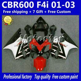 Cheap fairing kits for motorCyCles online shopping - Cheap red white black fairings bodywork kit for HONDA CBR600F4i CBR600 F4i CBR motorcycle fairing kits
