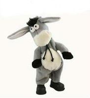 Wholesale Dancing Plush - Free shipping,Electronic pet donkey, can dance sing shook his head electric donkey, rock donkey, children funny toy