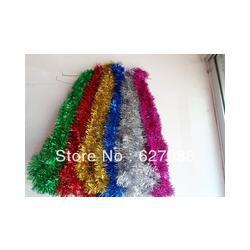 Free Shipping ,Wholesale,500pcs/lot ,Christmas tree Tinsel,party /Christmas tree decoration size:180cm*9cm
