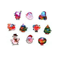 Wholesale free shipp christmas decoration supplies flash brooch flashing lovely badge Mixed delivery led toy Includ electronic