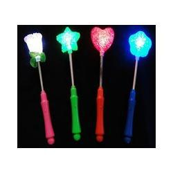 free shipping LED Glow Star Wand Mixed Rose Heart Shaped Stick Flashing Light Concert Party novelty items led toy toys