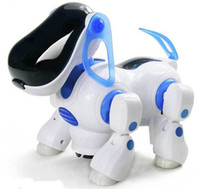 Wholesale Electric robot dogs electronic pet dog toy music shine pet Music Lights Walking Puppy Toys For Children Kids