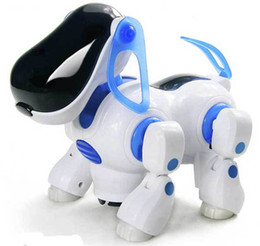 Wholesale Kids Walking Dog Toy - Free shipping Electric robot dogs electronic pet dog toy music shine pet Music Lights Walking Puppy Toys For Children Kids
