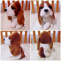 Wholesale Cheap Farm Animals - Lovely Dog Stuffed Plush Animal Toy Freeshipping Little Basset Hound Dog Very Soft Vivid High Quality Cheap Sale