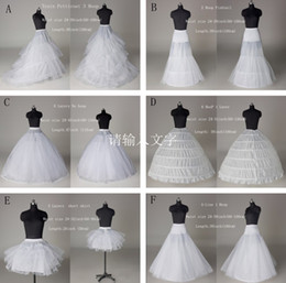 Wholesale Petticoat Free Shipping - Free Shipping 6 Styles White A Line Hoop Hoopless Short Crinoline Petticoat Slips Underskirt