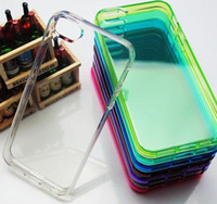 Wholesale S3 Case Crystals - High Quality Crystal Clear Soft TPU case cover for iphone 4 4s 5 5S 5C iphone 6 iphone 6 6S plus Galaxy S3 Galaxy S4 S5 I9600 Note 3 100PC