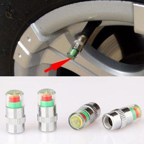 4pcs New Car Monitor de Presión de Neumáticos vástago de la válvula Indicador Alerta sensor Cap del ojo Envío gratuito