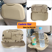 Wholesale Car Seat Tray mount Food table meal Desk Stand Drink Cup Holder and multifunctional dining table for automobile