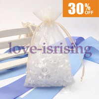 "Wholesale Orange Favor Bags - Free Shipping-High Quality 100pcs Ivory 10cm*15cm (4""x6"") Sheer Organza bag Wedding Favor Gift Bag,Party Favor Pouches"