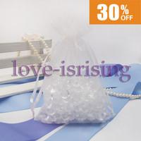 "Wholesale Gold Sheer Organza Bag - Free Shipping-100pcs White 10cm*15cm (4""x6"") Sheer Organza bag Wedding Favor Gift Bag,Party Favor Gift Bag"