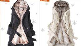 Wholesale Cashmere Hoodie Women - HOT 2016 New style Women's Fur Coats winter Warm Long Coat Clothes Ladies Hoodie Overcoat 3 Color S-3XL