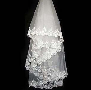 2020 billig vit vintage billig tulle brud vit elfenben 1,5m brud spets bröllop slöjor velos de novia voile mariage