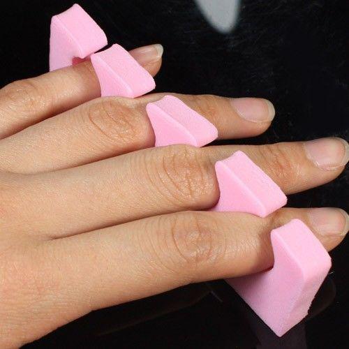 500 pz / lotto colore casuale cuore morbido schiuma dito punta separatore acrilico nail art salon manicure pedic